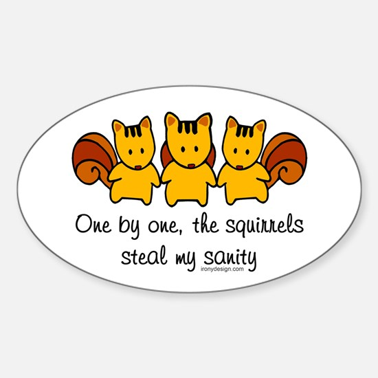 One by One The Squirrels Decal
