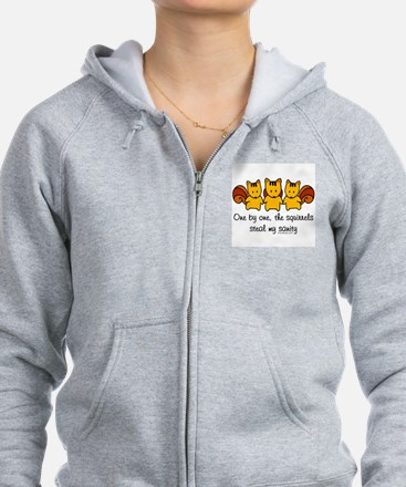 One by One The Squirrels Zip Hoody