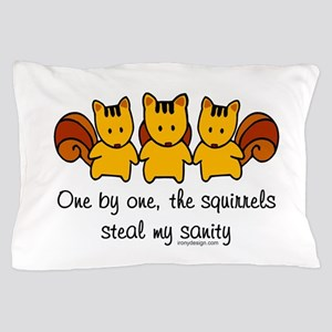 One by One The Squirrels Pillow Case