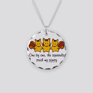 One by One The Squirrels Necklace Circle Charm