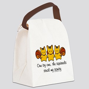 One by One The Squirrels Canvas Lunch Bag