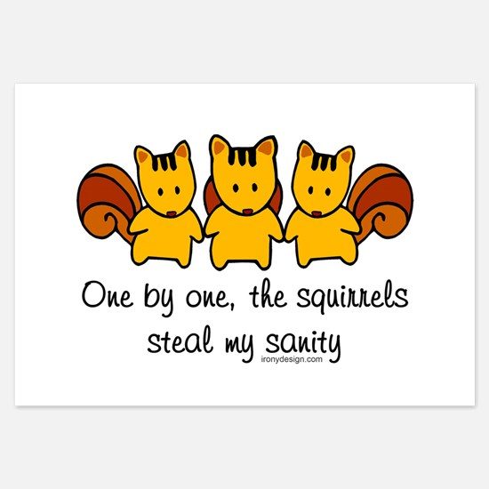 One by One The Squirrels Invitations