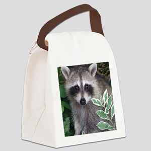 Baby Raccoon Photo Canvas Lunch Bag