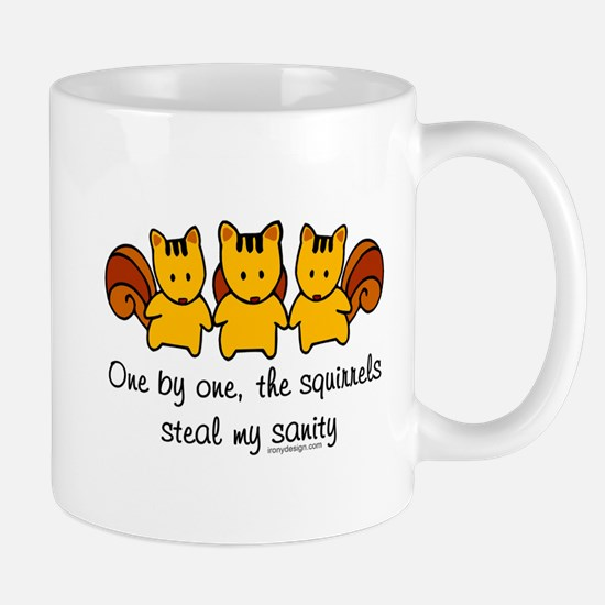One by One The Squirrels Mugs