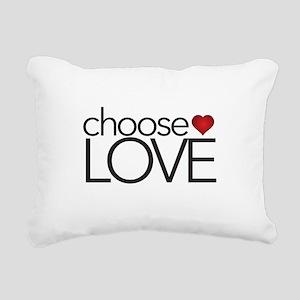 Choose Love - Rectangular Canvas Pillow