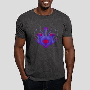 Blue/Red Dragon/Aliens Fractal Dark T-Shirt