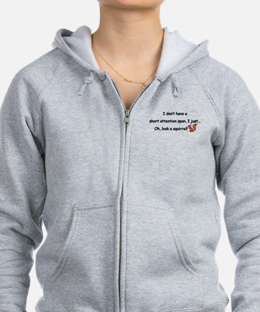 Attention Span Squirrel Zip Hoodie