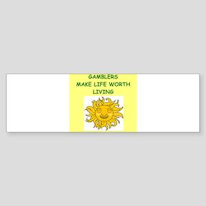 gamblers Sticker (Bumper)