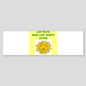lab techs Sticker (Bumper)