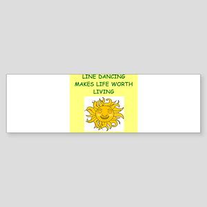 line dancing Sticker (Bumper)