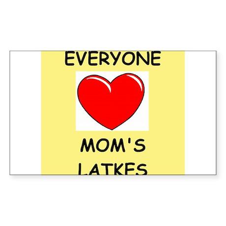 moms latkes Sticker (Rectangle)