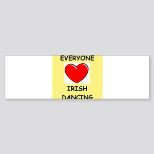 irish dance Sticker (Bumper)