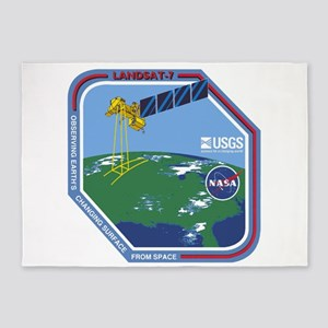 Landsat 7 Program Logo 5'x7'area Rug