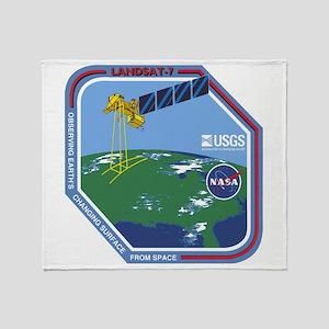 Landsat 7 Program Logo Throw Blanket