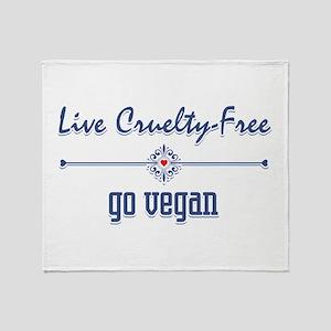 Live Cruelty Free, Go Vegan Throw Blanket