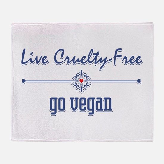 Live Cruelty Free, Go Vegan Throw Blanket