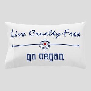 Live Cruelty Free, Go Vegan Pillow Case