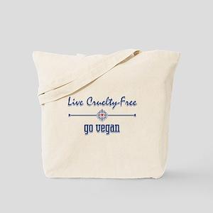 Live Cruelty Free, Go Vegan Tote Bag