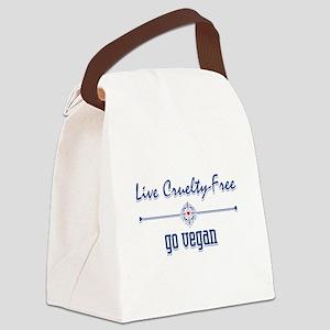 Live Cruelty Free, Go Vegan Canvas Lunch Bag