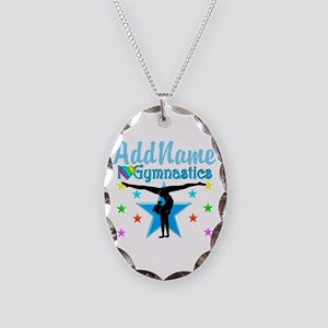 GYMNAST POWER Necklace Oval Charm