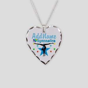 GYMNAST POWER Necklace Heart Charm