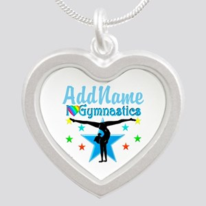GYMNAST POWER Silver Heart Necklace