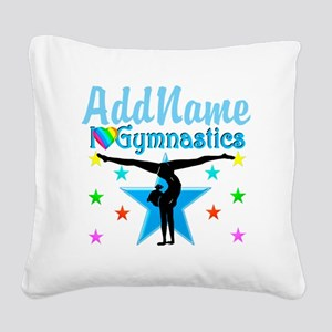 GYMNAST POWER Square Canvas Pillow