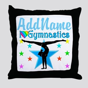 GYMNAST POWER Throw Pillow