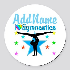 GYMNAST POWER Round Car Magnet