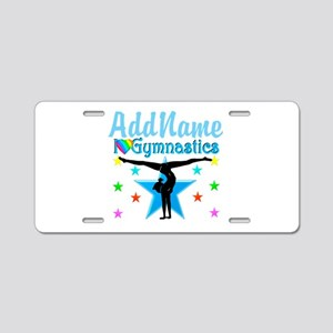 GYMNAST POWER Aluminum License Plate