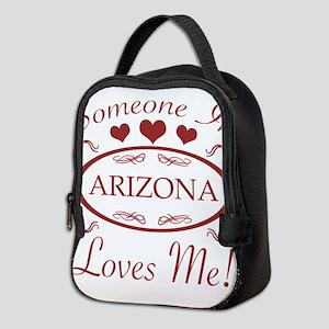 Somebody In Arizona Loves Me Neoprene Lunch Bag