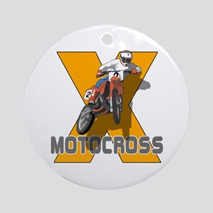Extreme Motocross Ornament (Round)