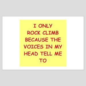 rock climbing Large Poster