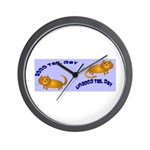 Kitty Good & Ungood Tail Days Wall Clock
