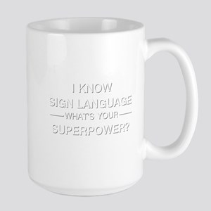 I know sign language (white) Mugs
