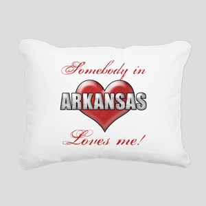 Somebody In Arkansas Lov Rectangular Canvas Pillow
