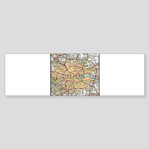 Map of London England Bumper Sticker