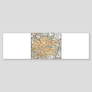 Map of London England Bumper Sticker