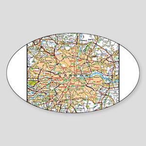 Map of London England Sticker