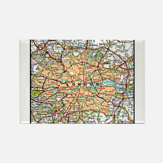 Map of London England Magnets