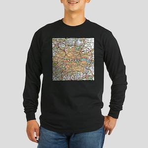 Map of London England Long Sleeve T-Shirt