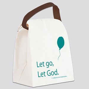 Let go Let God Canvas Lunch Bag