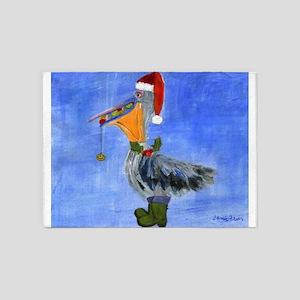 Christmas Pelican 5'x7'Area Rug