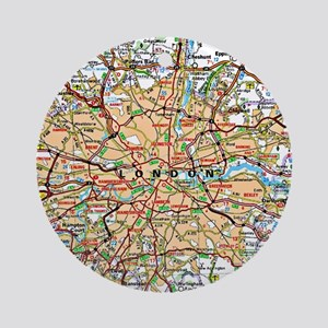 Map of London England Ornament (Round)