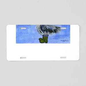 Christmas Pelican Aluminum License Plate