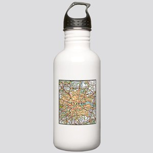 Map of London England Stainless Water Bottle 1.0L
