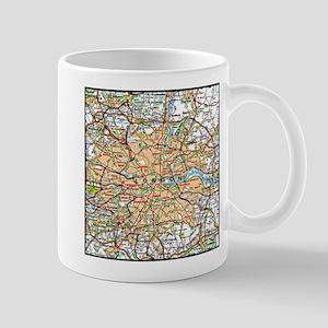 Map of London England Mugs