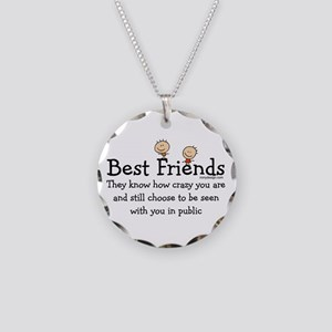 Best Friends Necklace Circle Charm