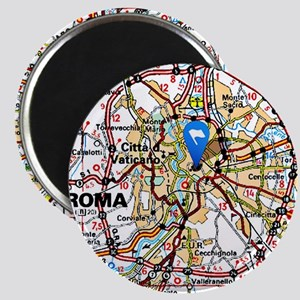 Map of Rome Italy Magnets
