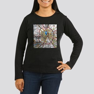 Map of Rome Italy Long Sleeve T-Shirt